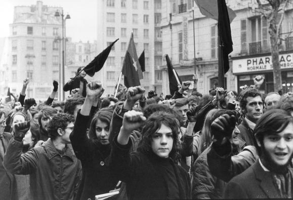 París Mayo de 1968: Manifestación de estudiantes