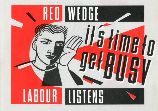 Cartel propagandistico de Red Wedge. 1986