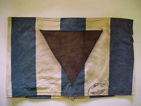 Distintivo de los gitanos en los campos de exterminio nazis.