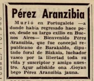 Perez Arancibia Tierra Vasca Junio 1971
