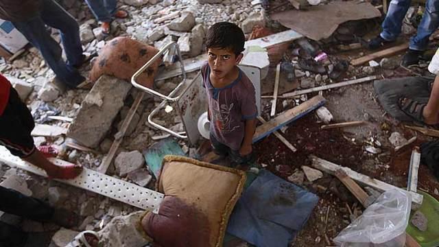 Tras el bombardeo. Franja de Gaza. Palestina. Julio de 2014