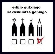 erlijio gutxiago