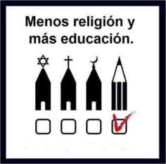 menos religión