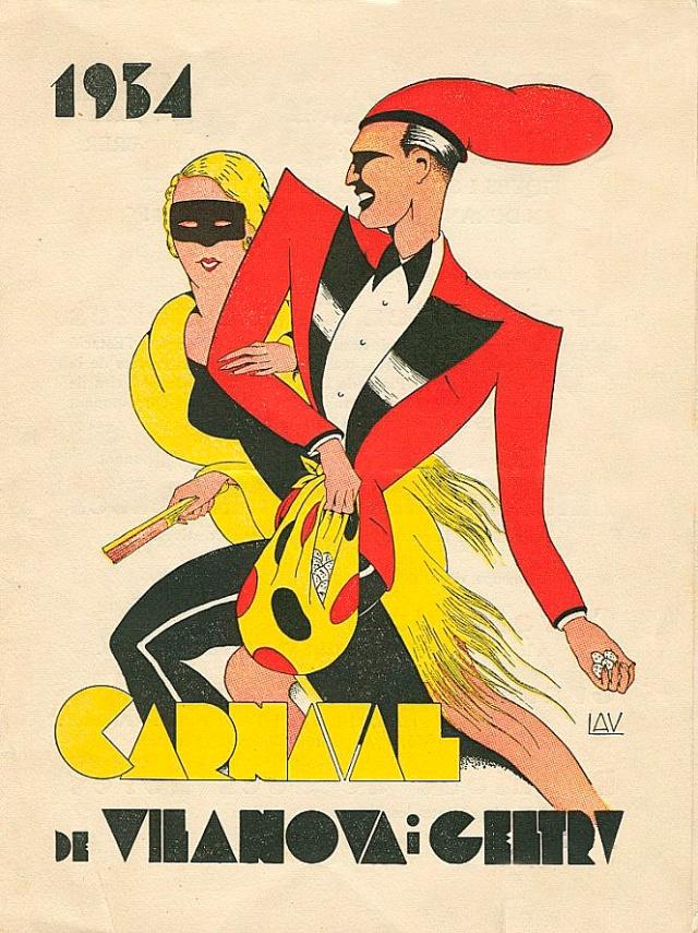 Cartel municipal del carnaval de Vilanova i La Geltrú. 1934