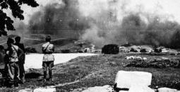Bombardeo italiano en el puerto del Escudo