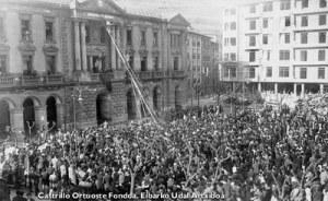 Proclamación de la República en Eibar.
