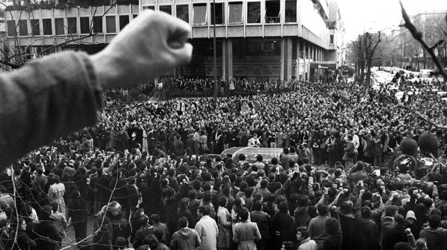 Entierro de los abogados de Atocha. 26 de enero de 1977. Plaza de Colón. Madrid