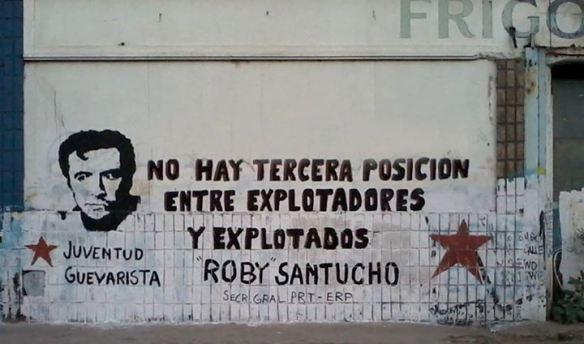 Pintada de las Juventudes Guevaristas (P.R.T.-E.R.P.) en un muro de Mendoza, Argentina.